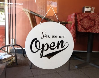 Open Sign, Open Closed Sign, Vintage style, Vintage style open closed sign