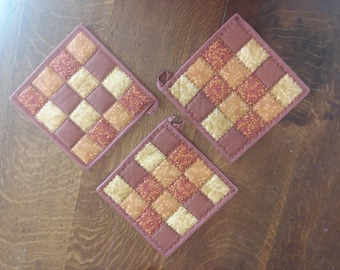 Fall Harvest Quilted Pot Holders