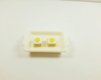 Miniature food earrings, Mini lemon cake studs, Polymer clay earrings, fruits cake earrings, Polymer Clay jewelry, food jewelry, cake studs