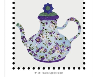 Fancy That teapot appliqué block