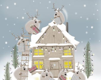 More Presents Than Last Year - Quirky Reindeer Christmas Card