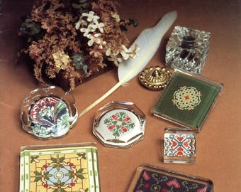 Plain and Fancy Paperweights from June Grigg designs Inc. - Book 10 (cross stitch)   Craft Book
