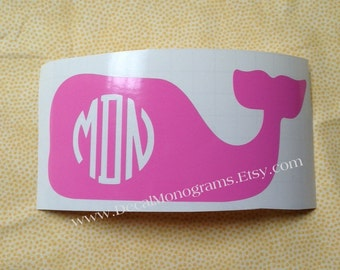 Monogrammed Whale Vines