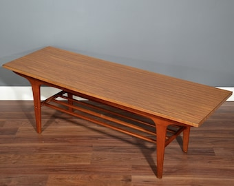 Etonnant Vintage Danish Style Two Tear Teak Slatted Coffee Table. Delivery. Modern / Mid  Century Style.