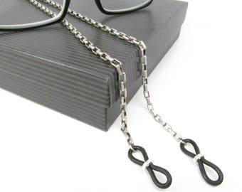 Glasses Chain for Men in Antique Silver - Glasses Lanyard - Eye Glass Chain - Glasses Leash - Glasses Cord - Reading Glasses Holder for men