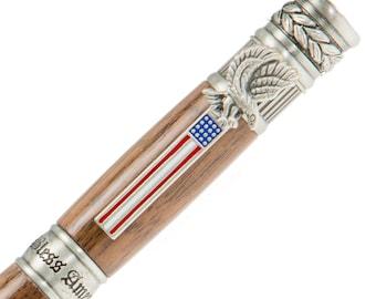 The American Patriot - Handmade Walnut Pen