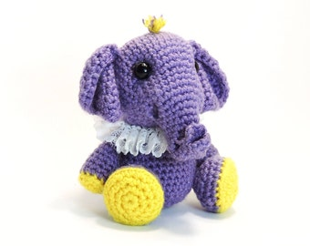 PATTERN: Crochet Little Elephant (PDF file)- amigurumi animal tutorial crochet pattern template knitting elephant stuffed toy