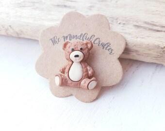 Teddy Bear pin teddy bear brooch teddy Bear jewellery Bear jewellery old tatty teddy pin Brown bear brooch toy bear pin teddy bear toy Stein
