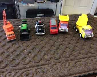 Lot of 6 Vintage Toy Cars and Trucks