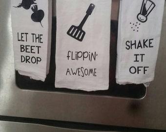 Flour Sack Towel, Funny kitchen towels, Housewarming gift, wedding Gift, Funny Song Lyrics, tea towel