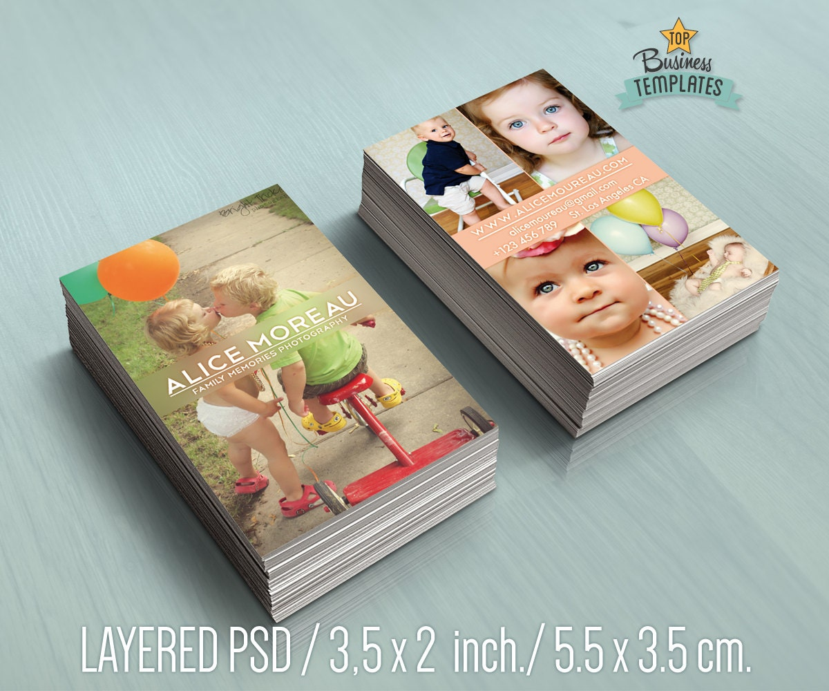 Marketing for photographers printable business cards
