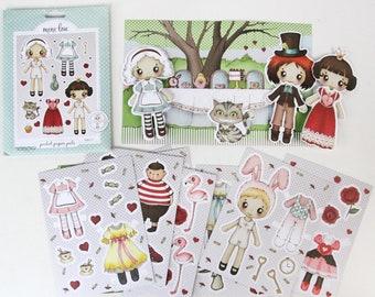Alice in Wonderland Pocket Pal - Paper Doll Set