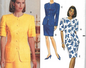 Butterick 5327 Misses/Miss Petite Easy Top And Skirt Pattern, Size 18-22, UNCUT