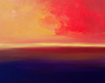 Unknown horizon  Modern abstract oil painting Hand Painted
