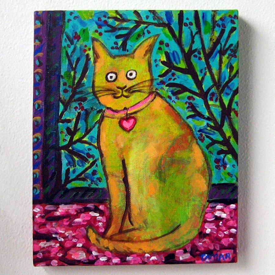 Original Cat Painting Chat de Matisse Matisse\'s Cat