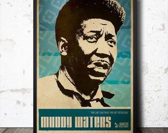 Muddy Waters Blues Music Art Poster
