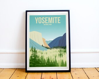 Yosemite National Park - US National Parks - Art Print - (Available In Many Sizes)