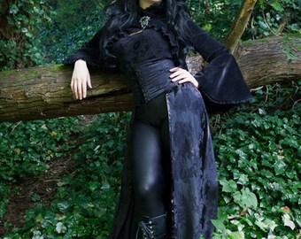 Evil Queen Brocade Corset Skirt, custom size, gothic skirt.