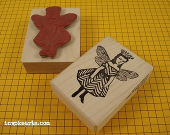 Queen Bea Stamp / Invoke Arts Collage Rubber Stamps
