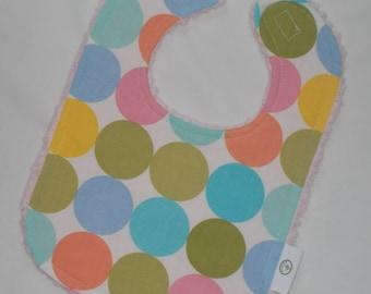 Pastel Disco Dot and Chenille Bib
