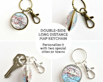 Long Distance Keychain, Father's Day Gift, Father from Daughter, Father from Son, Long Distance Dad, Daughter to Father Gift, Distance Gifts