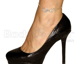 Silver Handcuff anklet