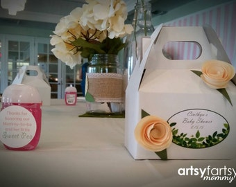 Floral - Garden Themed Favor Boxes - Party decor - Wedding, Baby Shower, Bridal Party - 10ct.