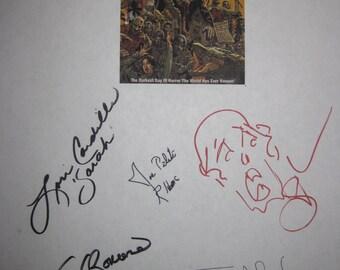 Day of the Dead 1985 Signed Film Movie Script Screenplay X7 Autograph George Romero Lori Cardille Terry Alexander Greg Nicotero Stavrakis