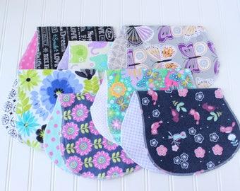 Baby Girl Burp Cloths - Set of 7 - Baby Shower Gift - Baby Gift - Aztec