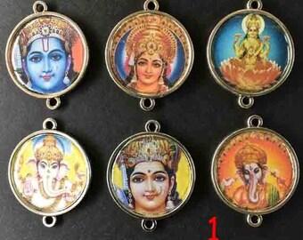 Indian pendant, connector, support metal money, 2, 5 cm in diameter