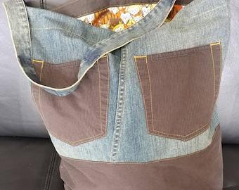 Eco-bag, denim bag, handmade