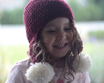 Sparkley Pom Pom Crochet Toque