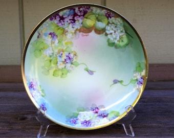 Antique O.&E.G. Royal Austria, Porcelain Plate, Hand Painted Artist Signed
