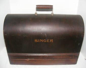Antique Singer Bentwood Machine Case, Portable Sewing Machine Case, Singer Dome Case, Sewing, Needlework,