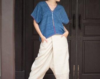 Hippie/funky... pants Hemp/cotton adjustable for size S-L(138)
