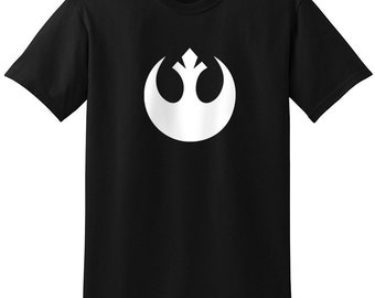 Star Wars Inspired Rebel Alliance Insignia Logo Black White Sport Gray Grey T-Shirt T-Shirts Tops Women Men Boys Girls Ladies Unisex Fit