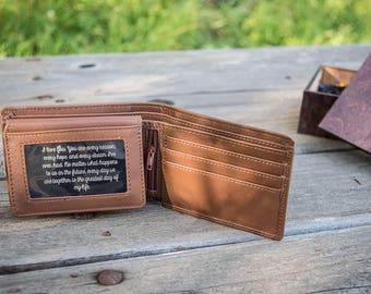 Man Wallet, Mens Wallet, Engraved Leather Wallet, Engraved Wallet, Groomsman Wallet, Monogram Wallet, Groomsmen Wallet, RFID Blocking Wallet