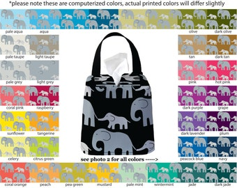 Auto Sneeze Box - Elephant - PICK YOUR COLOR - Car Accessory Automobile Caddy Tissue Case