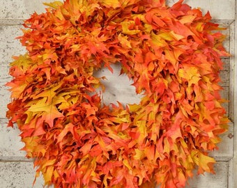 Dried Oak Leaf Wreath | Fall Wreath | Autumn Wreath
