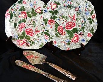 Two rare and beautiful Copeland Spode cake plates