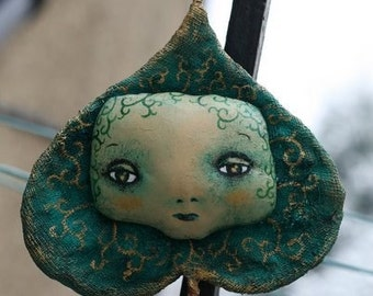 The last green leaf... Wall Art Doll OOAK