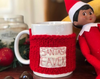 Christmas Cup Cozy - Santa's Fave