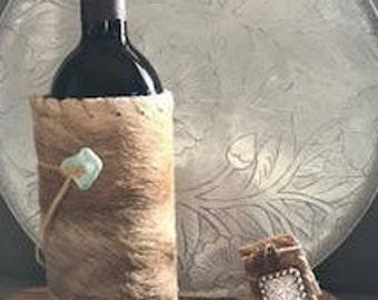 Hair On Hide Wine Cozy