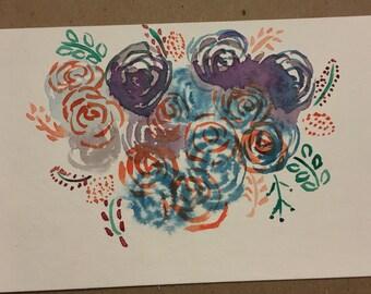 A beautiful chaos 4x6 postcard