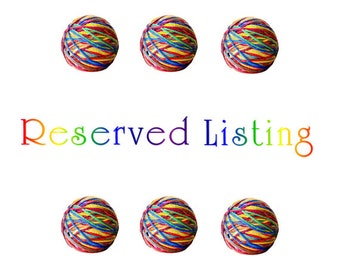 RESERVED! Lily Cone size 14oz cotton yarn in White, Yellow and Soft Ecru. 40oz of Fairfield polyfil.