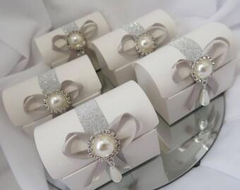 X 5 box-wedding candle / candy box / Favor Box