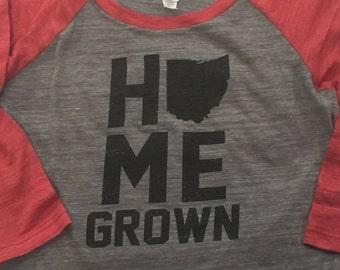 Ohio Home Grown Baseball Tee