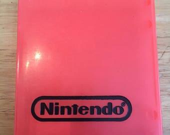 Vintage Nintendo NES Video Game Cart Storage Case Orange Transluscent Hard Plastic Official