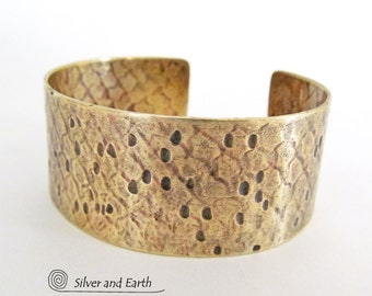 Gold Cuff Bracelet Hammered Textured Brass Cuff Ancient Egyptian Jewelry Handmade Boho Chic Jewelry Rustic Metal Cuff Bracelet Brass Jewelry