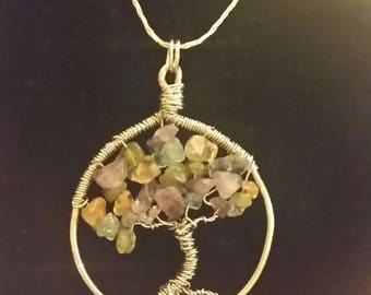 Handmade Tree of Life pendant on sterling silver chain